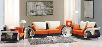 Orange Sofa Chair Living Room Perfect Modern Living Room Sets The Innovative
