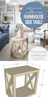 Farmhouse Side Table Remodelaholic Diy Planked X Farmhouse Side Table Free Building Plan
