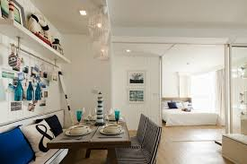 Nautical Dining Room Blue White Nautical Dining Room Interior Design Ideas