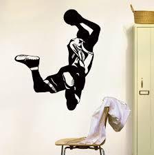 aliexpress com buy wall vinyl decals basketball player sport