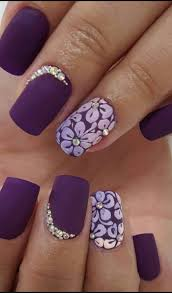 fingern gel design galerie floral ring finger with diamonds just amazing nails