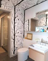 Wallpapered Bathrooms Ideas 57 Best Wallpaper Bathrooms Images On Pinterest Room Bathroom