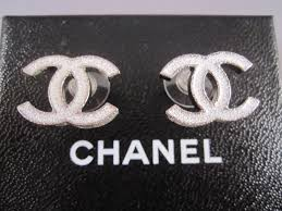 cc earrings cocosboutique org auth chanel 10a snowy white glitter cc