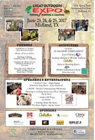 midland u0027s great outdoor expo is next week texas hunting