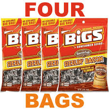 bigs bacon sunflower seeds sizzlin bacon flavored sunflower seeds four bags