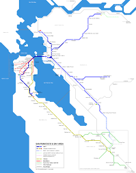 San Francisco Streetcar Map Trains