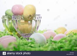 malted easter eggs malted candy easter eggs on bed of crepe paper and in pink and