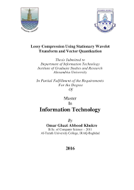 lossy compression using stationary wavelet transform and vector quant u2026