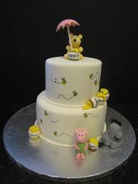 winnie the pooh baby shower cakes classic pooh baby shower cake cakecentral
