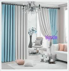 Teal And Beige Curtains 2017 Promotion Solid Color Plain Window Curtains For Living Room