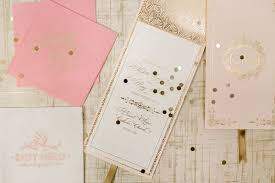 Pink Wedding Invitations Elegant Gold Foil Wedding Invitations