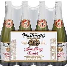 sparkling cider in bulk martinelli s sparkling cider apple 25 4 oz 4 ct
