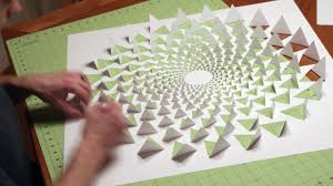 3d optical illusion wall art made using one sheet paper youtube