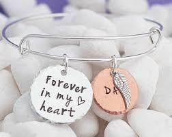 memorial bracelets for loved ones memorial bracelet etsy