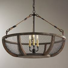 Basket Chandeliers Chicken Wire Basket Chandelier Antique Farm Table Country