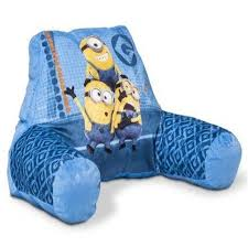 despicable me minions bed reading pillow with arms u2013 despicable me
