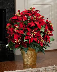 xl premier silk poinsettia plant in red color mikulás
