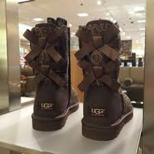 ugg womens glitter boots a twist on a ugg australia mini bailey bow snake print