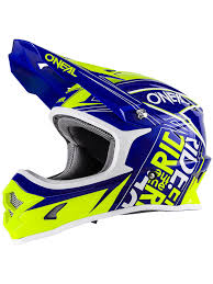motocross helmet stickers oneal blue hi viz 2018 3series fuel mx helmet oneal