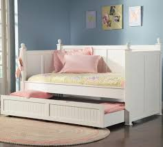 white finish day bed trundle daybed wooden wood frame