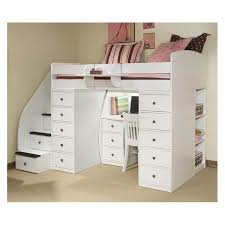 white loft bed with desk ideas of loft bed with desk and stairs thedigitalhandshake furniture