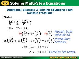 learn to solve multi step equations ppt video online download