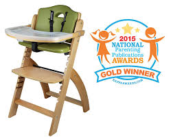 amazon com abiie beyond wooden high chair with tray the perfect