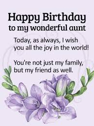 to my wonderful aunt happy birthday wishes card birthday