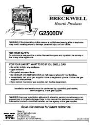 Lennox Gas Fireplace Manual by Breckwell Gas Stove Manuals