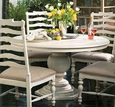 paula deen dining room furniture paula deen home linen round pedestal extendable dining table