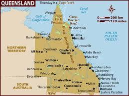 map of queensland map of queensland