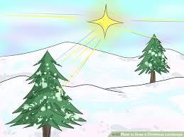 draw christmas landscape artprise ru art