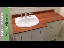 discount bathroom countertops with sink how to make a wooden vanity top countertop youtube