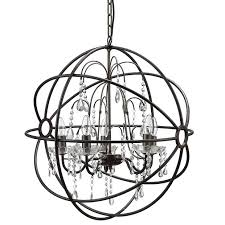Sphere Chandelier With Crystals Sphere Chandelier Orb Chandelier With Crystals Dining