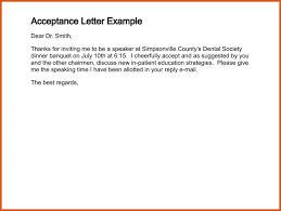 acceptance letter sample general resumes
