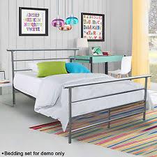 Silver Metal Headboards by Metal Platform Bed Bedroom Frame Silver Steel Headboard Full Size