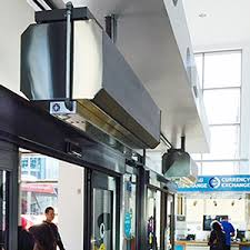 Curtains For Entrance Door Air Curtains For Commercial Buildings Powered Aire