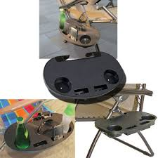Quest Directors Chair Side Table 2 X Clip On Camping Chair Side Table Outdoor Garden Fishing Beach