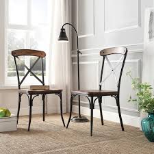 Cross Back Bistro Chair Tribecca Home Nelson Industrial Modern Rustic Cross Back Dining