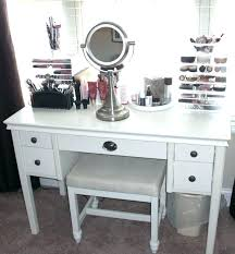 vanity table with lighted mirror and bench black makeup vanity table kaivalyavichar org