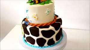 giraffe baby shower cake jungle theme cake youtube