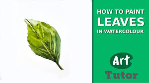 how to paint leaves in watercolour youtube