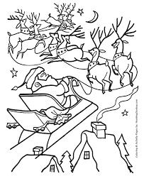christmas santa coloring santa u0027s bag empty honkingdonkey