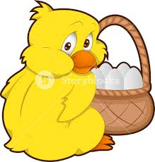 easter chicken cartoon character royalty free stock image