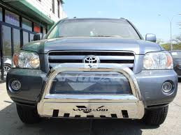 vanguard 01 07 toyota highlander front bull bar bumper protector