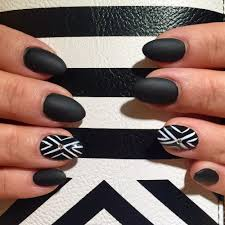 fiberglass overlay almond shaped with matte black paint and nail