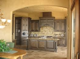 Kitchen Style Rustic Kitchens Distressed Cabinets Terracota