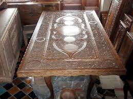 Carved Dining Table And Chairs Dining Table 8 Chairs In Carved Walnut For Sale