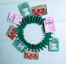 christmas card display wreath youtube