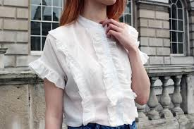 frilly blouse white frilly blouse louise fashion